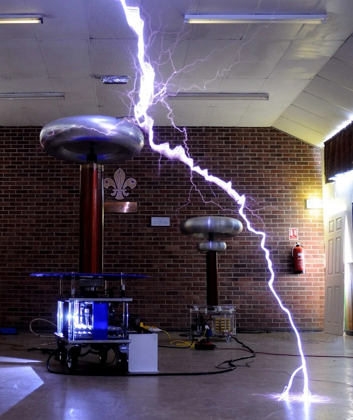 Big Tesla Coil strike
