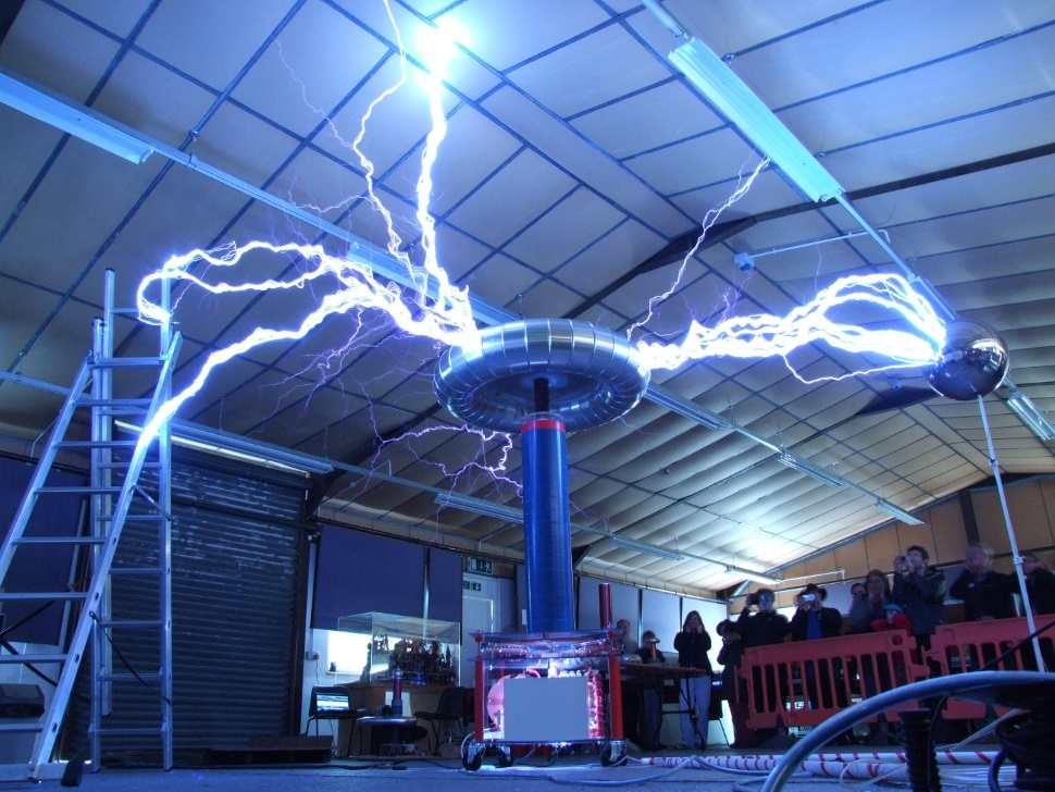 Phillip's Big tesla coil at Cambridge 2013