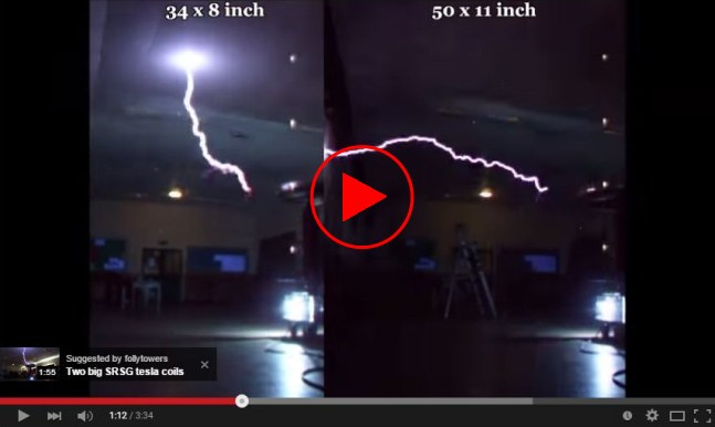 Tesla coil toroid test on YouTube