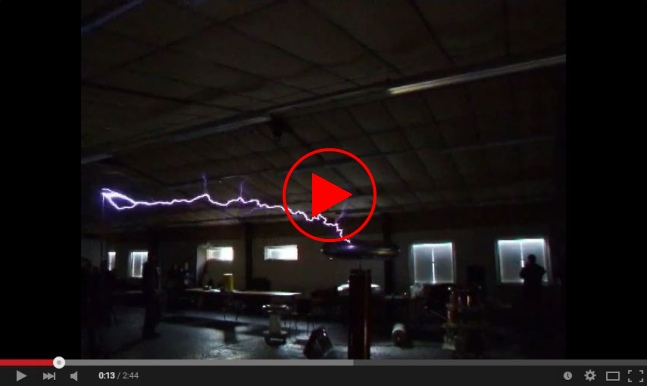 youtube video of tesla coil running